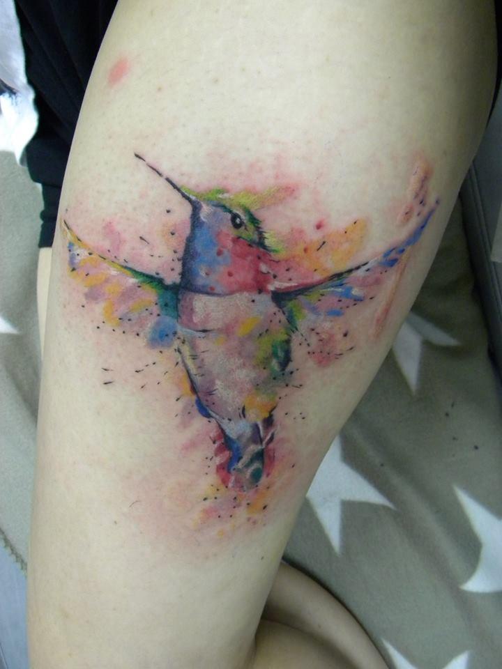 watercolor humminbird